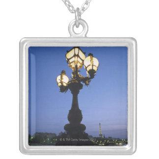 Alexandre III Bridge in Paris Square Pendant Necklace
