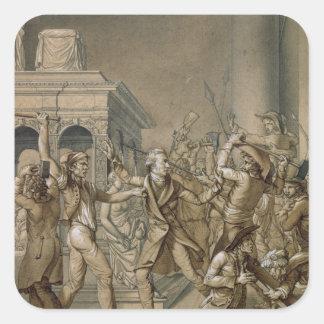 Alexandre Lenoir  opposing the destruction Square Sticker