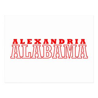 Alexandria, Alabama City Design Postcard