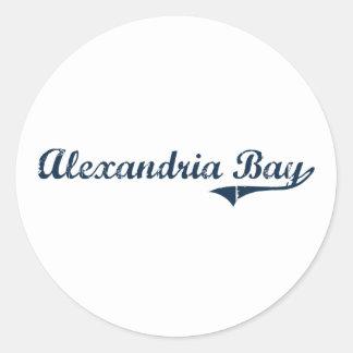 Alexandria Bay New York Classic Design Classic Round Sticker