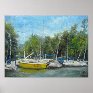 Alexandria Boat Marina Poster