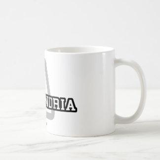 Alexandria Classic White Coffee Mug