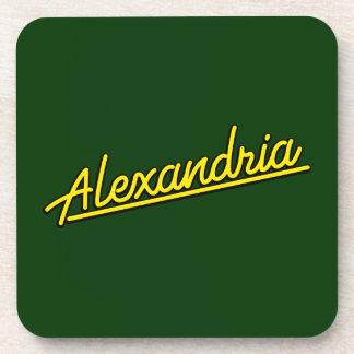 Alexandría en amarillo posavaso