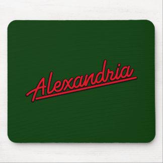 Alexandría en rojo tapete de ratón