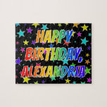 "[ Thumbnail: ""Alexandria"" First Name, Fun ""Happy Birthday"" Jigsaw Puzzle ]"