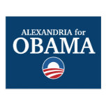 ALEXANDRIA for Obama custom your city personalized Postcard