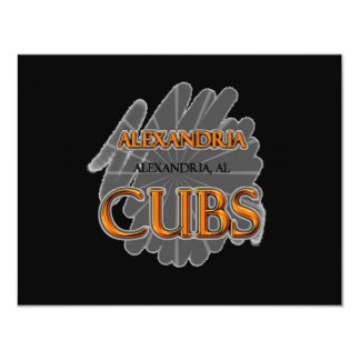 Alexandria High School CUBS Alexandria, AL Card