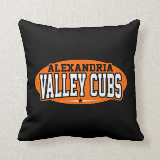 Alexandria High School; Valley Cubs Throw Pillow