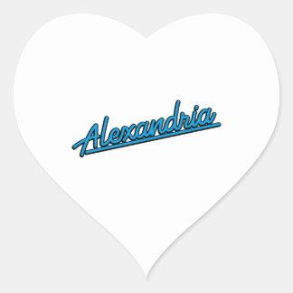 Alexandria in cyan heart sticker