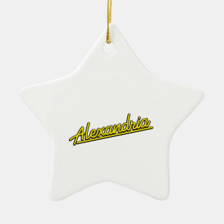 Alexandria in yellow christmas tree ornament