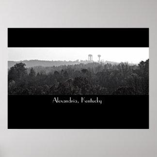 Alexandria, KY. Poster; B&W Poster