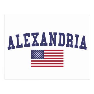 Alexandria LA US Flag Postcard