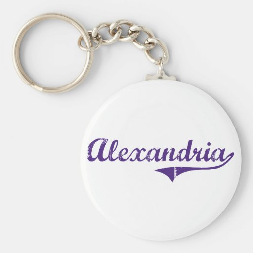 Alexandria Louisiana Classic Design Basic Round Button Keychain