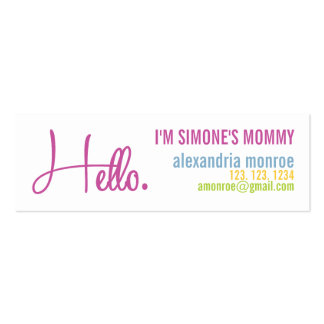 ALEXANDRIA MONROE CALLING Double-Sided MINI BUSINESS CARDS (Pack OF 20)