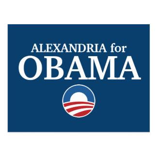 ALEXANDRÍA para el personalizado de Obama su ciuda Postal