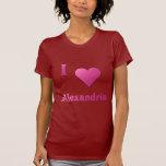 Alexandría -- Rosas fuertes Camisetas
