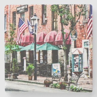 Alexandria Street With Cafe Stone Beverage Coaster