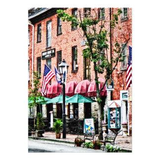 Alexandria Street With Cafe Custom Invite