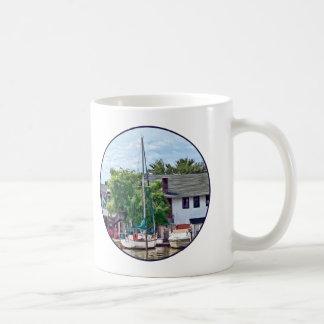 Alexandria VA Docked Boats Coffee Mug