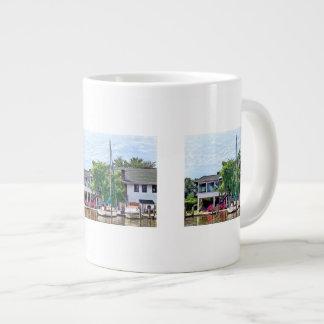Alexandria VA Docked Boats Giant Coffee Mug
