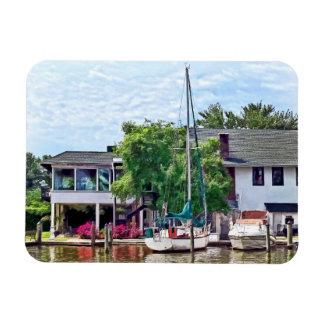 Alexandria VA Docked Boats Vinyl Magnet
