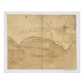 Alexandria VA George Washington Map 1760 Poster