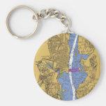 Alexandria VA Nautical Harbor Chart Keycha Keychain