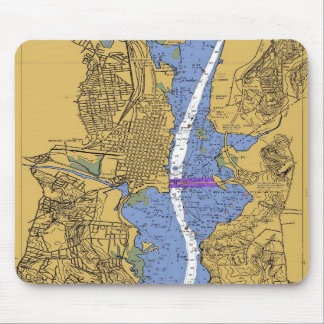 Alexandria VA Nautical Harbor Chart mousepad