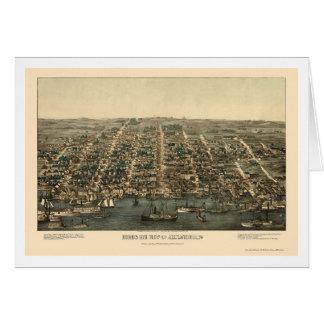 Alexandria, VA Panoramic Map - 1863 Greeting Cards