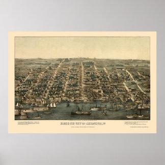 Alexandria, VA Panoramic Map - 1863 Poster