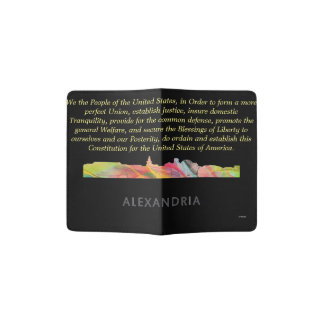 ALEXANDRIA VIRGINIA SKYLINE BW1 - PASSPORT HOLDER