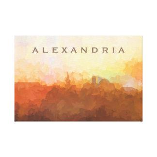 Alexandria Virginia Skyline IN CLOUDS Canvas Print