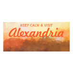 Alexandria Virginia Skyline IN CLOUDS Rack Card