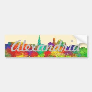 Alexandria Virginia Skyline-SG Bumper Sticker