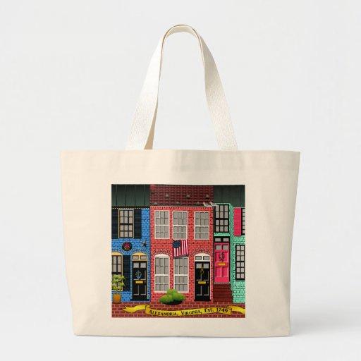 Alexandria, Virginia Townhouses Large Tote Bag
