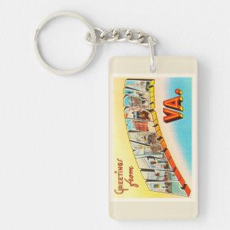 Alexandria Virginia VA Old Vintage Travel Postcard Keychain