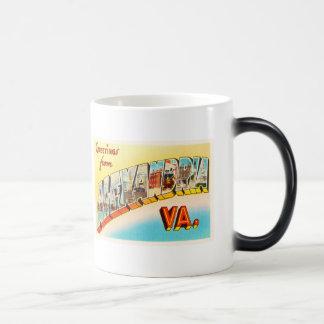Alexandria Virginia VA Old Vintage Travel Postcard Magic Mug