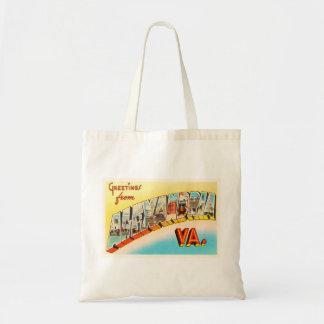 Alexandria Virginia VA Old Vintage Travel Postcard Tote Bag