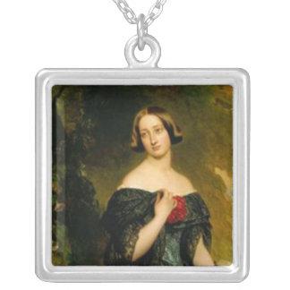 Alexandrina Duchess Saxe Coburg Square Pendant Necklace