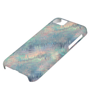 Alexandrite Blue Glassy Texture Cover For iPhone 5C