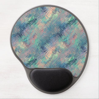 Alexandrite Blue Glassy Texture Gel Mouse Pad