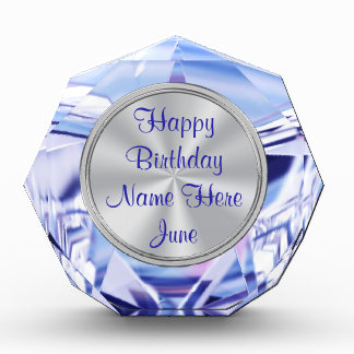 Alexandrite Personalized June Birthday Gifts Award