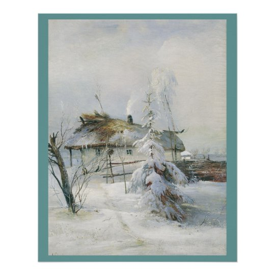 Alexei Savrasov Winter 1873 Canvas Print