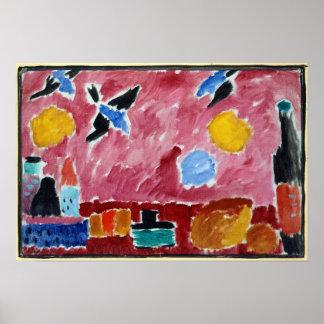 Alexej von Jawlensky Still Life with Bottle, Bread Poster