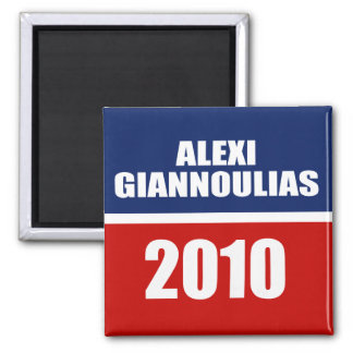 ALEXI GIANNOULIAS FOR SENATE 2 INCH SQUARE MAGNET