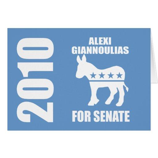 ALEXI GIANNOULIAS FOR SENATE CARDS