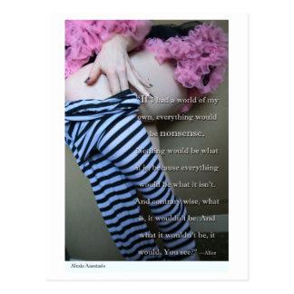 """Alexia Anastasio """"Nonsense"""" Postcard"""