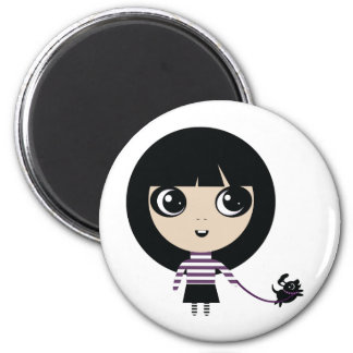 Alexie and Pancake 2 Inch Round Magnet