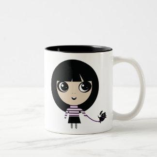 Alexie and Pancake Two-Tone Coffee Mug