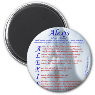 Alexis Acrostic 2 Inch Round Magnet